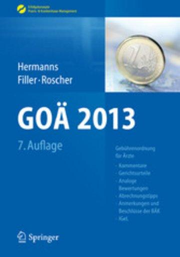 eBook GOÄ 2013 Cover