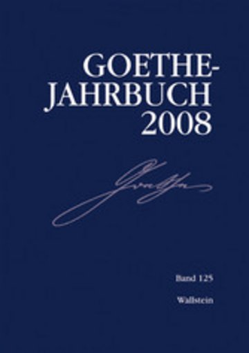 eBook Goethe-Jahrbuch 125, 2008 Cover