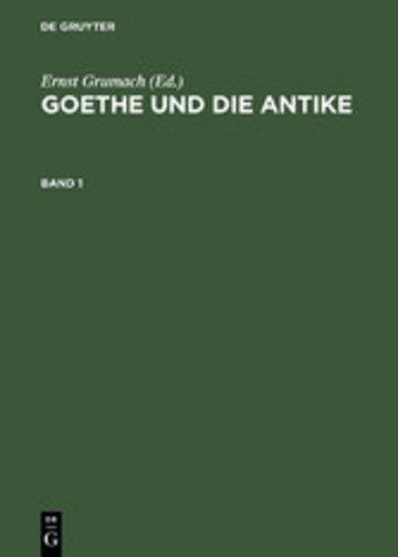 eBook Goethe und die Antike Cover