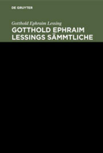eBook Gotthold Ephraim Lessing: Gotthold Ephraim Lessings Sämmtliche Schriften. Band 8 Cover