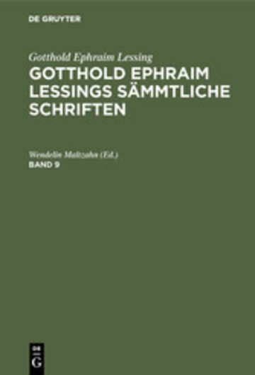 eBook Gotthold Ephraim Lessings Sämmtliche Schriften. Band 9 Cover
