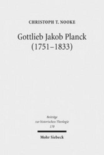 eBook Gottlieb Jakob Planck (1751-1833) Cover