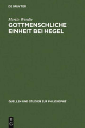 eBook Gottmenschliche Einheit bei Hegel Cover