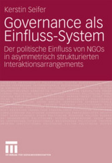 eBook Governance als Einfluss-System Cover
