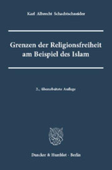 eBook Grenzen der Religionsfreiheit am Beispiel des Islam Cover
