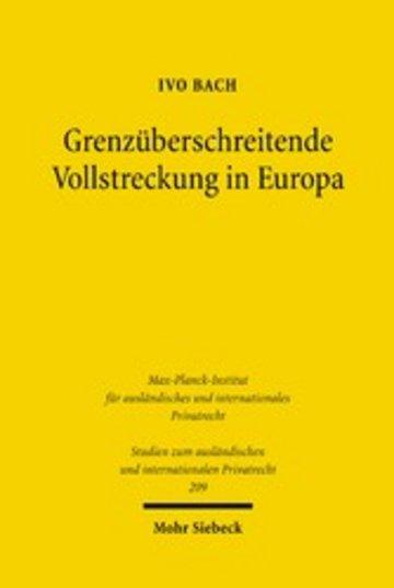 eBook Grenzüberschreitende Vollstreckung in Europa Cover
