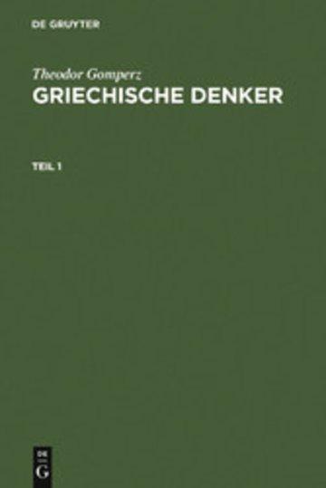 eBook Griechische Denker Cover
