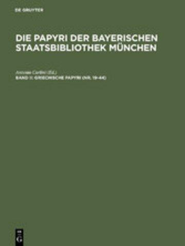 eBook Griechische Papyri (Nr. 19-44) Cover
