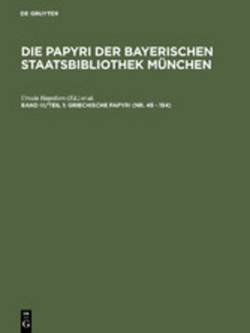 eBook Griechische Papyri (Nr. 45 - 154) Cover