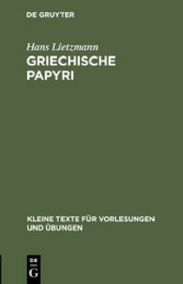 eBook Griechische Papyri Cover
