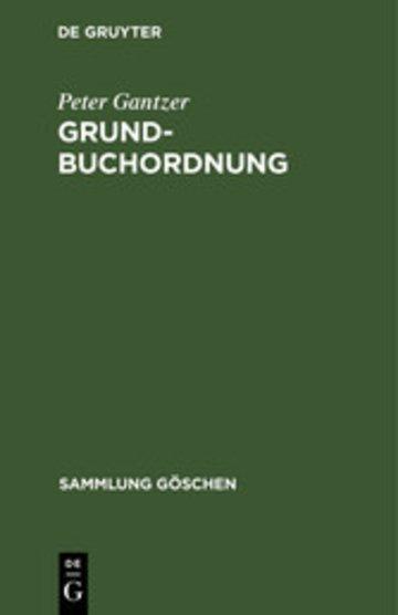 eBook Grundbuchordnung Cover