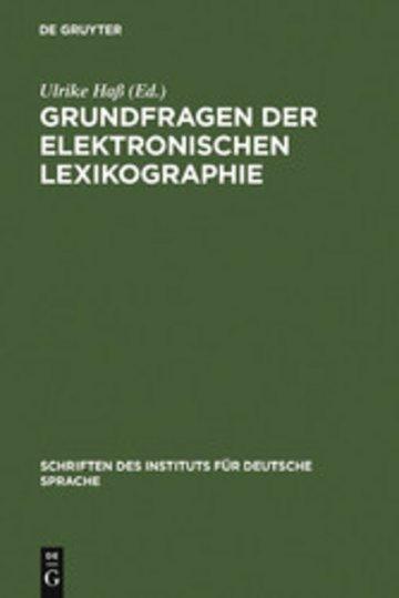 eBook Grundfragen der elektronischen Lexikographie Cover