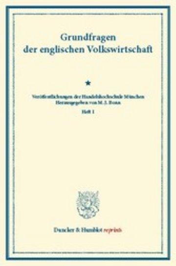 eBook Grundfragen der englischen Volkswirtschaft. Cover