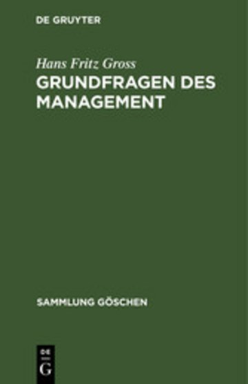 eBook Grundfragen des Management Cover