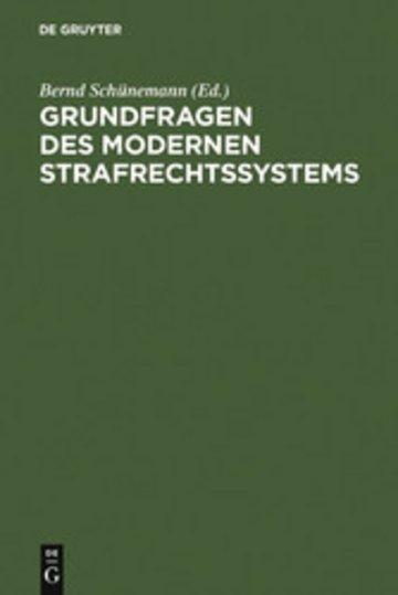 eBook Grundfragen des modernen Strafrechtssystems Cover