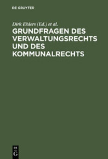 eBook Grundfragen des Verwaltungsrechts und des Kommunalrechts Cover