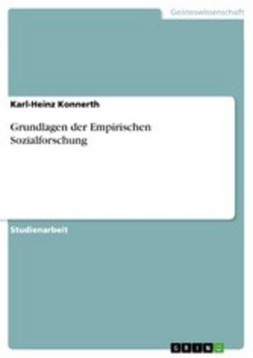 eBook Grundlagen der Empirischen Sozialforschung Cover