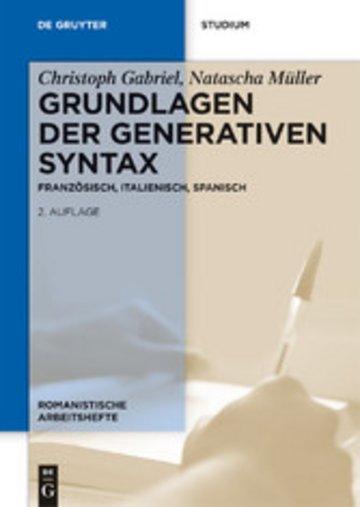 eBook Grundlagen der generativen Syntax Cover