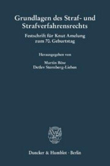 eBook Grundlagen des Straf- und Strafverfahrensrechts. Cover