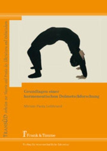 eBook Grundlagen einer hermeneutischen Dolmetschforschung Cover
