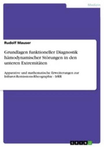 eBook Grundlagen funktioneller Diagnostik hämodynamischer Störungen in den unteren Extremitäten Cover