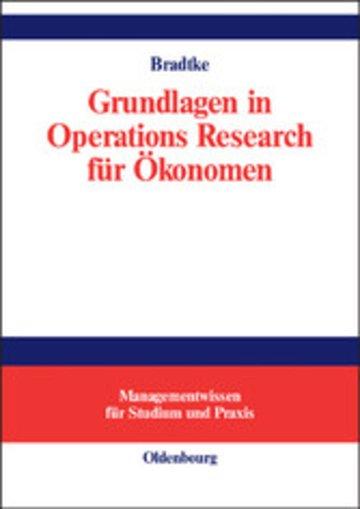 eBook Grundlagen in Operations Research für Ökonomen Cover