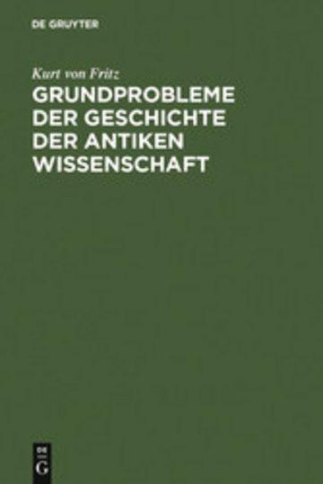 eBook Grundprobleme der Geschichte der antiken Wissenschaft Cover