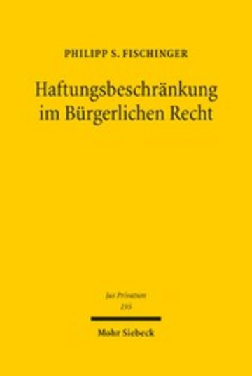 eBook Haftungsbeschränkung im Bürgerlichen Recht Cover