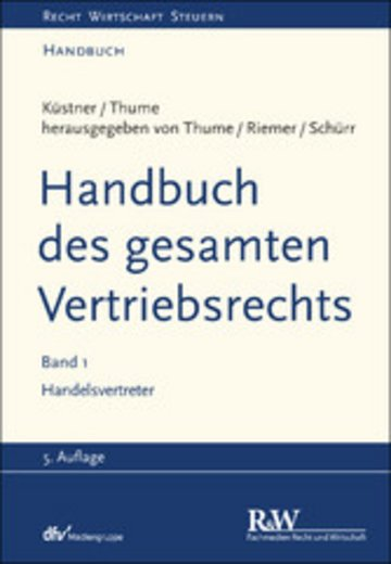 eBook Handbuch des gesamten Vertriebsrechts, Band 1 Cover