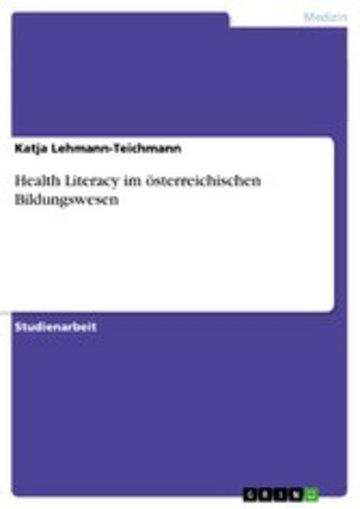 eBook Health Literacy im österreichischen Bildungswesen Cover