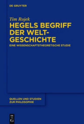 eBook Hegels Begriff der Weltgeschichte Cover