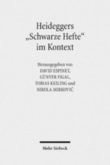 eBook Heideggers 'Schwarze Hefte' im Kontext Cover