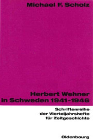 eBook Herbert Wehner in Schweden Cover