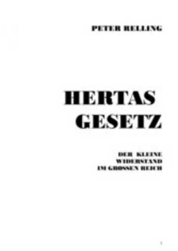 eBook Hertas Gesetz Cover