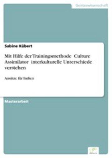 """eBook Mit Hilfe der Trainingsmethode """"Culture Assimilator"""" interkulturelle Unterschiede verstehen Cover"""