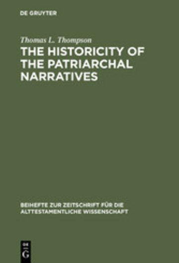 eBook The Historicity of the Patriarchal Narratives Cover
