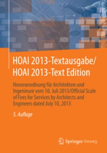 eBook HOAI 2013-Textausgabe/HOAI 2013-Text Edition Cover