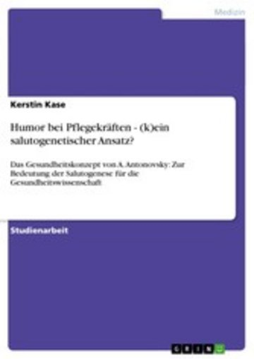 eBook Humor bei Pflegekräften - (k)ein salutogenetischer Ansatz? Cover