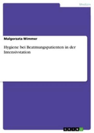 eBook Hygiene bei Beatmungspatienten in der Intensivstation Cover