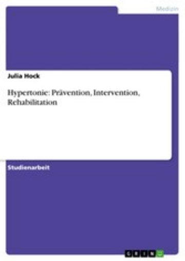 eBook Hypertonie: Prävention, Intervention, Rehabilitation Cover