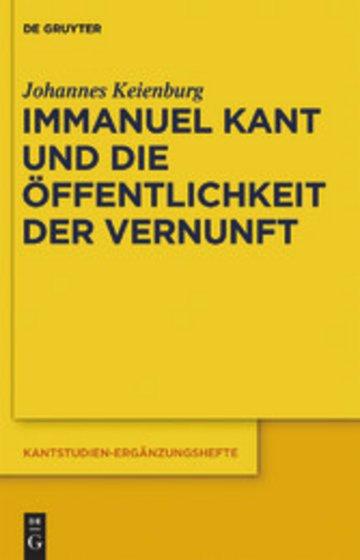 eBook Immanuel Kant und die Öffentlichkeit der Vernunft Cover
