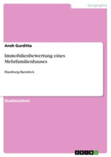 eBook Immobilienbewertung eines Mehrfamilienhauses Cover