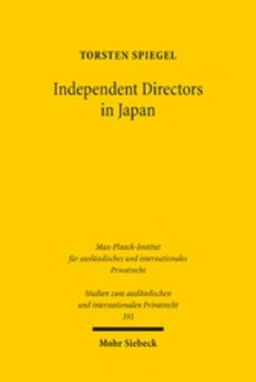eBook Independent Directors in Japan Cover