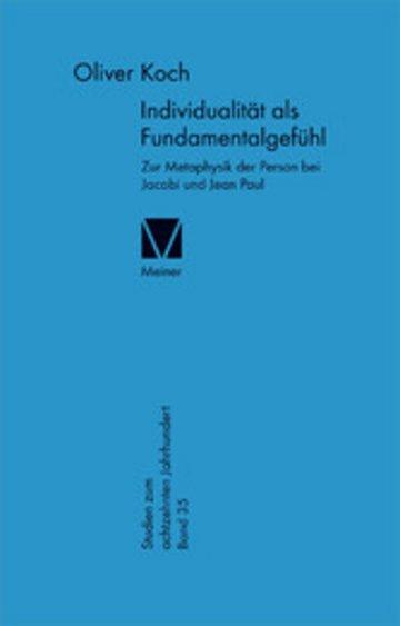eBook Individualität als Fundamentalgefühl Cover