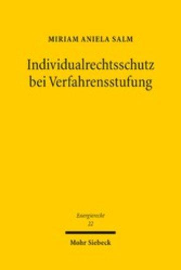 eBook Individualrechtsschutz bei Verfahrensstufung Cover