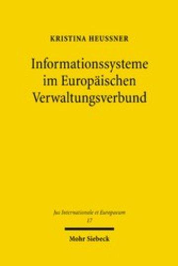 eBook Informationssysteme im Europäischen Verwaltungsverbund Cover