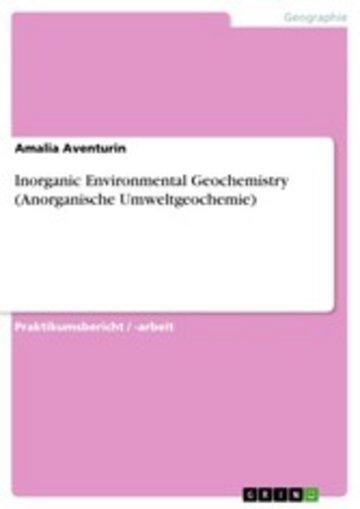 eBook Inorganic Environmental Geochemistry (Anorganische Umweltgeochemie) Cover