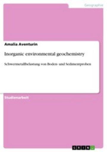 eBook Inorganic environmental geochemistry Cover