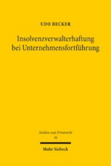 eBook Insolvenzverwalterhaftung bei Unternehmensfortführung Cover