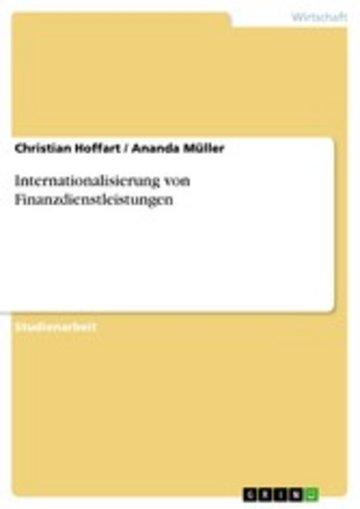 eBook Internationalisierung von Finanzdienstleistungen Cover